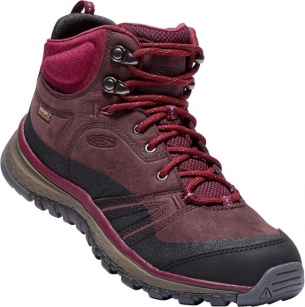 Keen Terradora Leather Mid WP W wine/rododendron