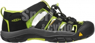 Keen Newport H2 Jr black/lime green sandály