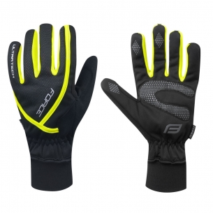 rukavice zimní FORCE ULTRA TECH, fluo